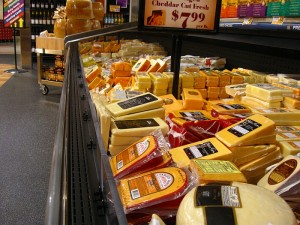 cheese at the grocery store
