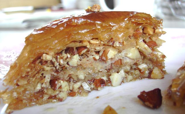 The prepared baklava
