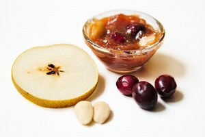 results pear-cranberry-almond marmalade